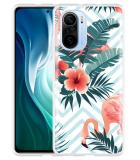 Xiaomi Mi 11i Hoesje Flamingo Flowers