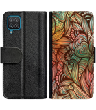 Galaxy A22 4G Hoesje - Book Case Abstract colorful
