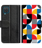 Galaxy A22 4G Hoesje - Book Case Abstract Pattern