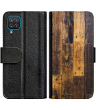 Galaxy A22 4G Hoesje - Book Case Special Wood