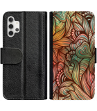 Galaxy A32 4G Hoesje - Book Case Abstract colorful