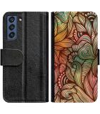 Galaxy S21 FE Hoesje - Book Case Abstract colorful