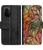 Poco F3 Hoesje - Book Case Abstract colorful