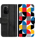 Poco F3 Hoesje - Book Case Abstract Pattern