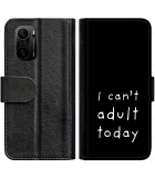Poco F3 Hoesje - Book Case Can't Adult Today