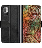 Poco M3 Pro Hoesje - Book Case Abstract colorful