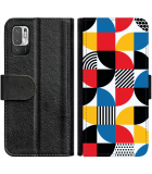 Poco M3 Pro Hoesje - Book Case Abstract Pattern