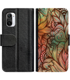 Xiaomi Mi 11i Hoesje - Book Case Abstract colorful