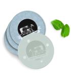 Luxe Onderzetters - Rond - Glas - 4 Stuks - Huwelijk I